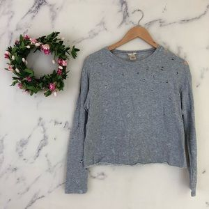 ❤️{3/$25} Wet Seal Distressed Crewneck Sweatshirt